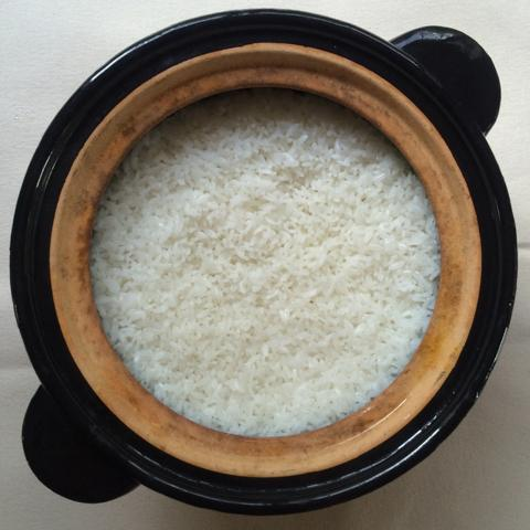 Donabe Recipes - white rice