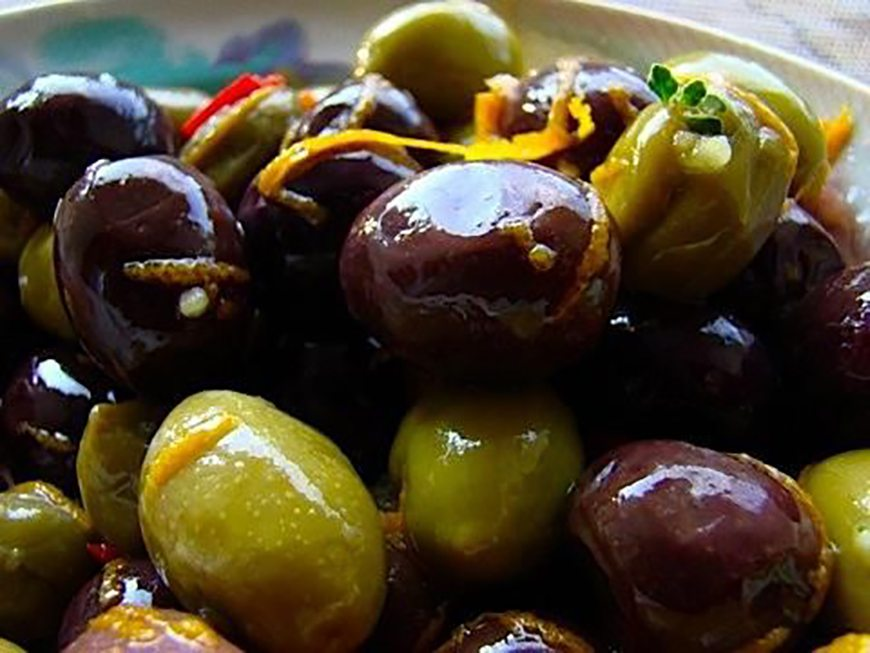 What to serve with paella - Marinated Spanish Olives