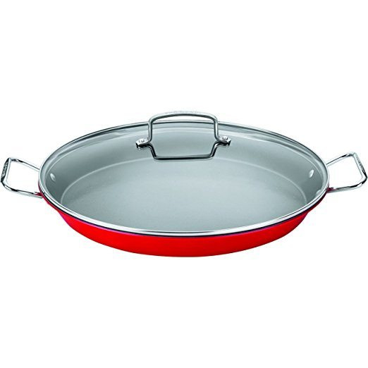 non stick paella pan with lid - Cuisinart