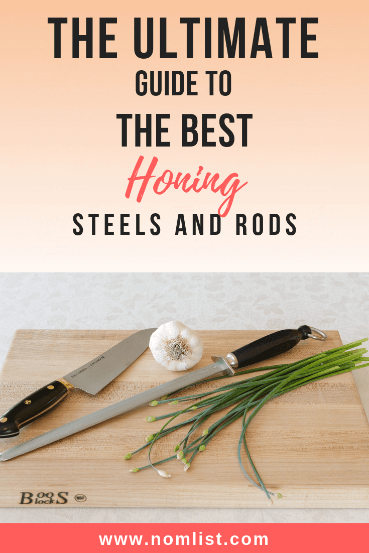 Honing steels are essential for keeping your kitchen knives sharp, click here to see our top 10 picks for the best honing steels! #honingsteel #honingknife #knife #knives #knifesharpener #sharpening #kitchenknives #kitchenappliances #kitchens #kitchentools