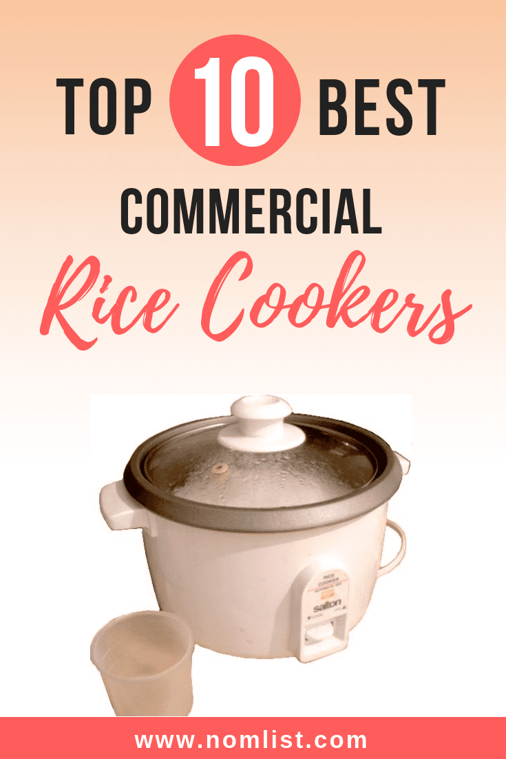 Need to cook massive amounts of rice? We've selected the Top 10 best commercial rice cookers for your entertaining needs! #rice #ricecooker #kitchenware #kitchentools #ricemaker #commercial #commercialricecooker #cooking #ricerecipes #kitchen #asianfood #asianfoodrecipes