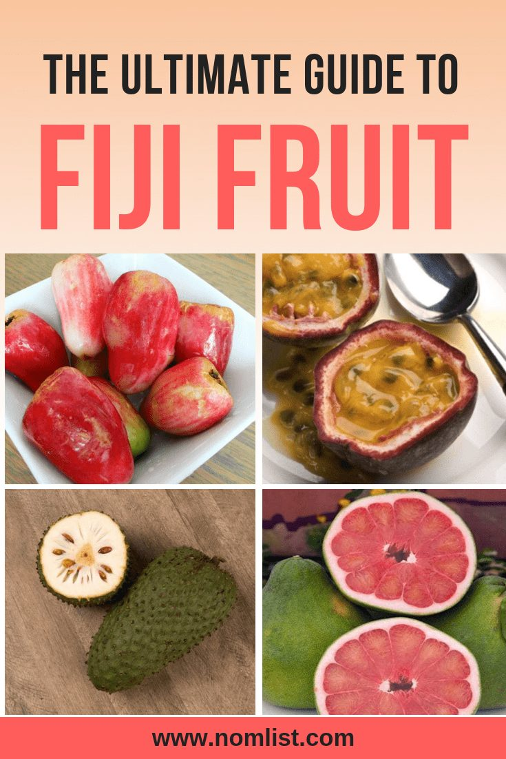 One of the truly hidden gems of Fiji is their delicious fruits. We've done the research and put together the Ultimate Guide to Fiji fruit for your next Fijian adventure.   #fiji #fruit #fijian #fijianfood #fijifood #travelfiji #fruits #fruitrecipes #allaboutfruit #fruity #travelfood