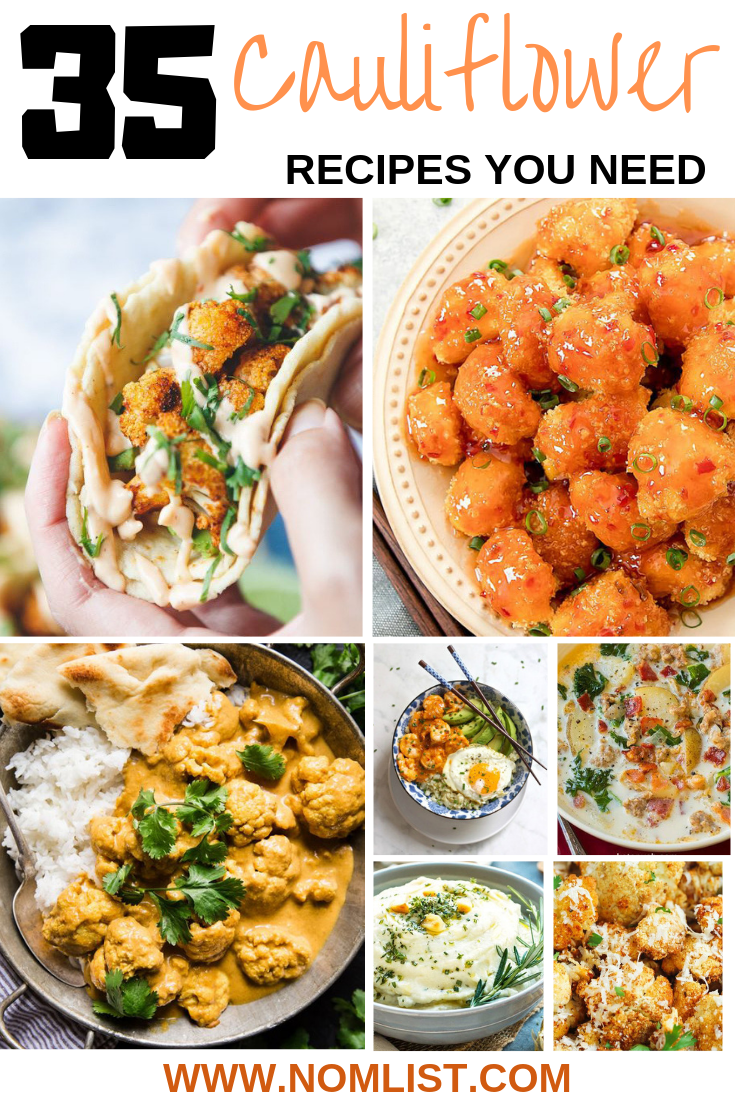 There are so many delicious things that you can do with Cauliflower, here is our list of the 35 most amazingly scrumptious cauliflower recipes out there in the world! #Cauliflower #cauliflowerrecipe #recipes #keto #ketorecipes #ketocookiing #healthyfood #healthyrecipes #recipes #ketolife #cauliflowerfood