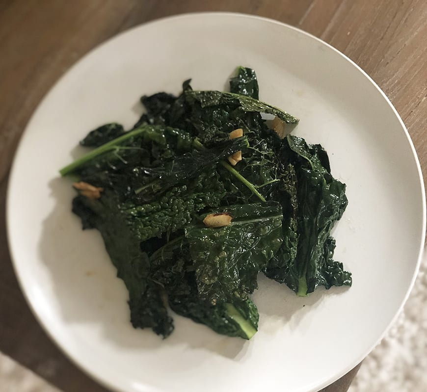 Double Chinese Cookbook - Kale Stirfry