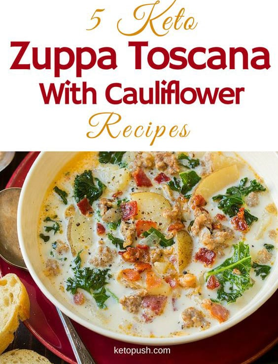 Kale Zuppa Toscana with Cauliflower
