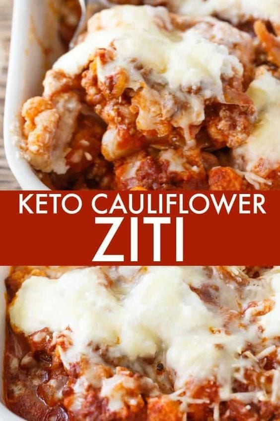 Keto Cauliflower Ziti