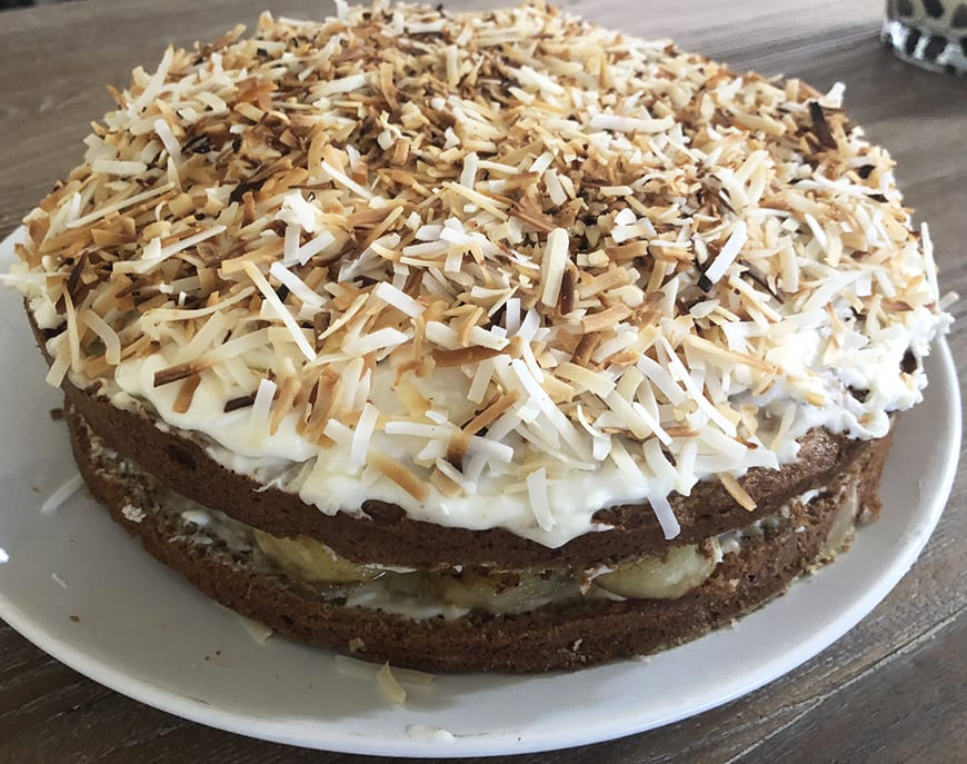 Banana Cake with Coconut Frosting 1