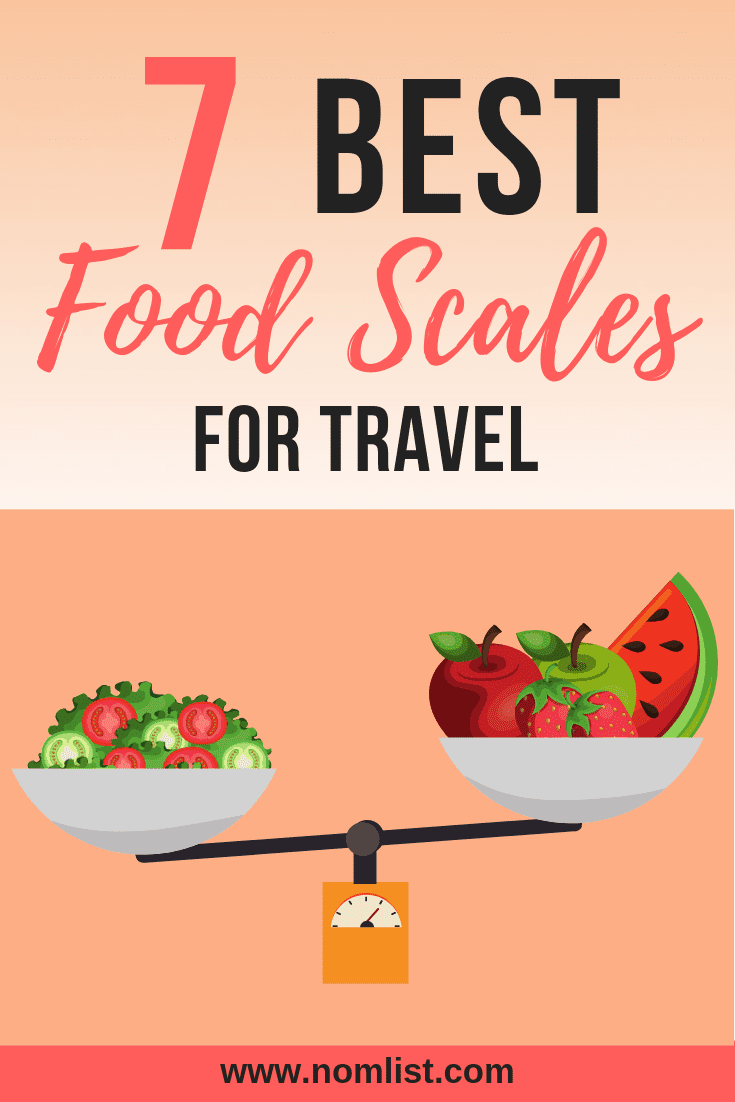 We've compiled the best seven portable food scales for travel, taking weight, accuracy, easiness to clean and size into consideration. #travel #food #foodscales #dieting #travelfood #traveldiet #healthy #healthyfood #organic #kitchentools