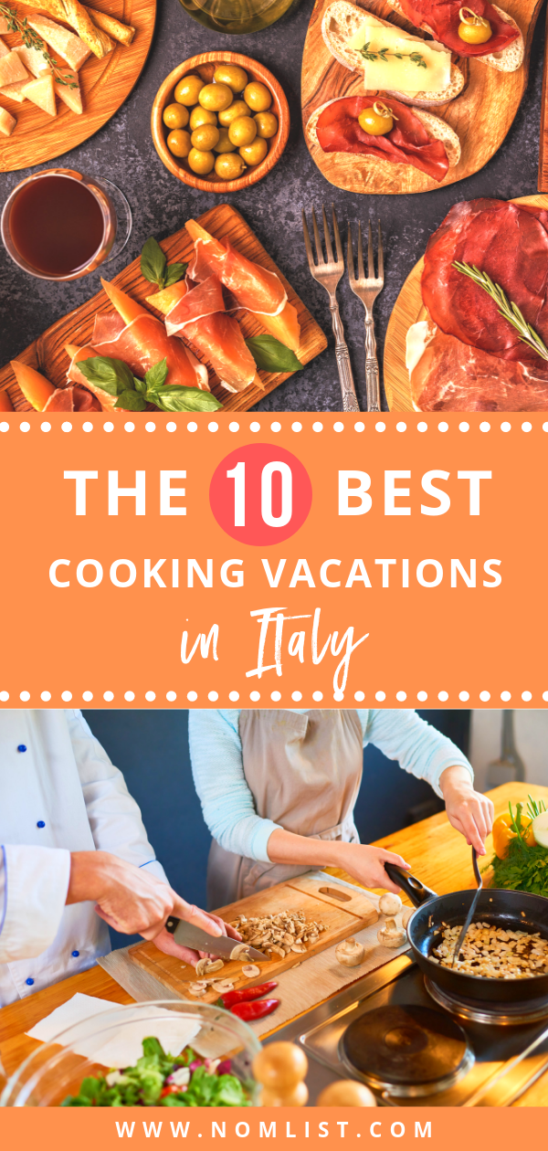 If you're a food aficionado like us, you're definitely going to want to try and plan a culinary adventure across the country. So, we found some of the best cooking vacations in Italy that you definitely don't want to miss. #italy #cooking #cookingclass #travel #travelfood #travelmeals #worldtravel #italianfood #cookingvacation #vacation #vacay #cooks #recipes