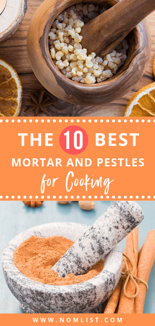 In order to infuse some of these great smells into our food, a mortar and pestle can be used to grind herbs to extract the most aroma and flavor from spices and herbs. We researched some of the best mortar and pestles for cooking and reviewed them just for you.  #mortarandpestle #mortar #grinder #kitchengrinder #kitchentools #kitchenappliances #spices #spicegrinder