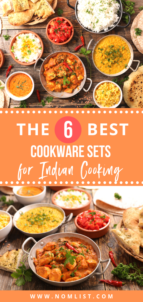 Here are the best non-stick Cookware sets for Indian Food, which are trusted to cook all your favorite dishes! #indian #nonstick #cookware #indianfood #indiancuisine #indiancooking #indiancookware #kitchenware #kitchentools #kitchenappliances
