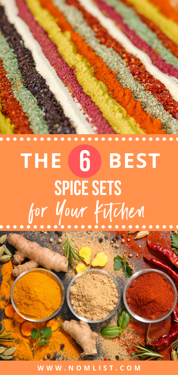 We have the best 6 spice sets lined up for you! Perfect if you're just getting your kitchen started, or you're a spice master looking to keep everything organized and put together. #spicesets #spices #spice #spicerack #cookingspices #herbs #kitchenspices #cookingspice