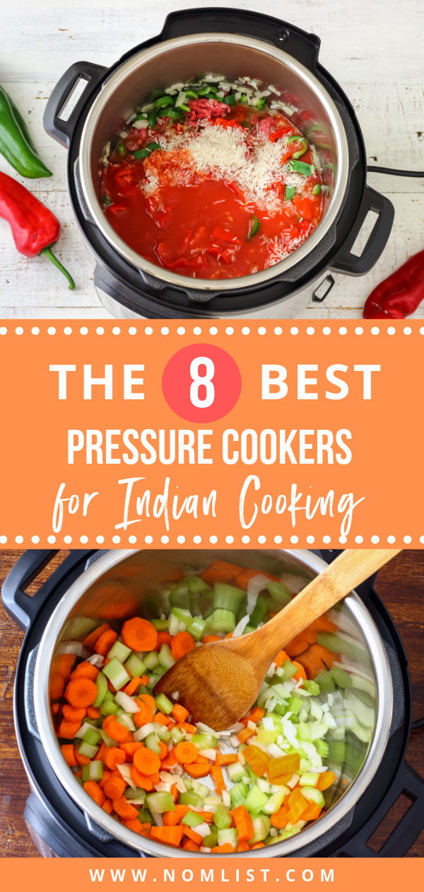We've gathered the best pressure cookers for Indian food! This nifty kitchen gadget will change your life in the kitchen, saving you lots of money and time. #pressurecooker #indianfood #indian #indiancooking #indianrecipes #hotpot #instantpot #slowcooker