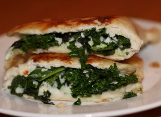 Halloumi, Kale, and Mint Gozleme aka Turkish Street Food