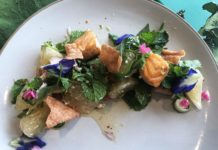 Yum Pla Salmon Thai Salad - 1 Plated -Banyan Tree Bangkok Cooking Class