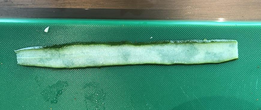 Yum Pla Salmon Thai Salad - Cucumber Slice