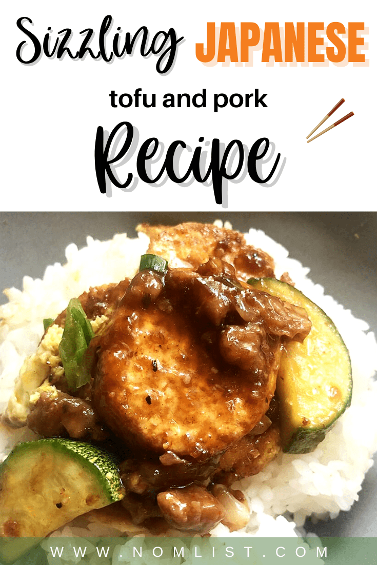 This is my favorite comfort food recipes. It's easy to make and you don't need to do the whole fancy hotplate thing unless you have someone to impress. You can skip the hotplate altogether and just serve it in a regular plate. I do like to use the hotplate personally when eating by myself because it keeps everything sizzling hot, but that's just a personal preference. #recipe #asianrecipe #japaneserecipe #tofu #tofurecipe #food