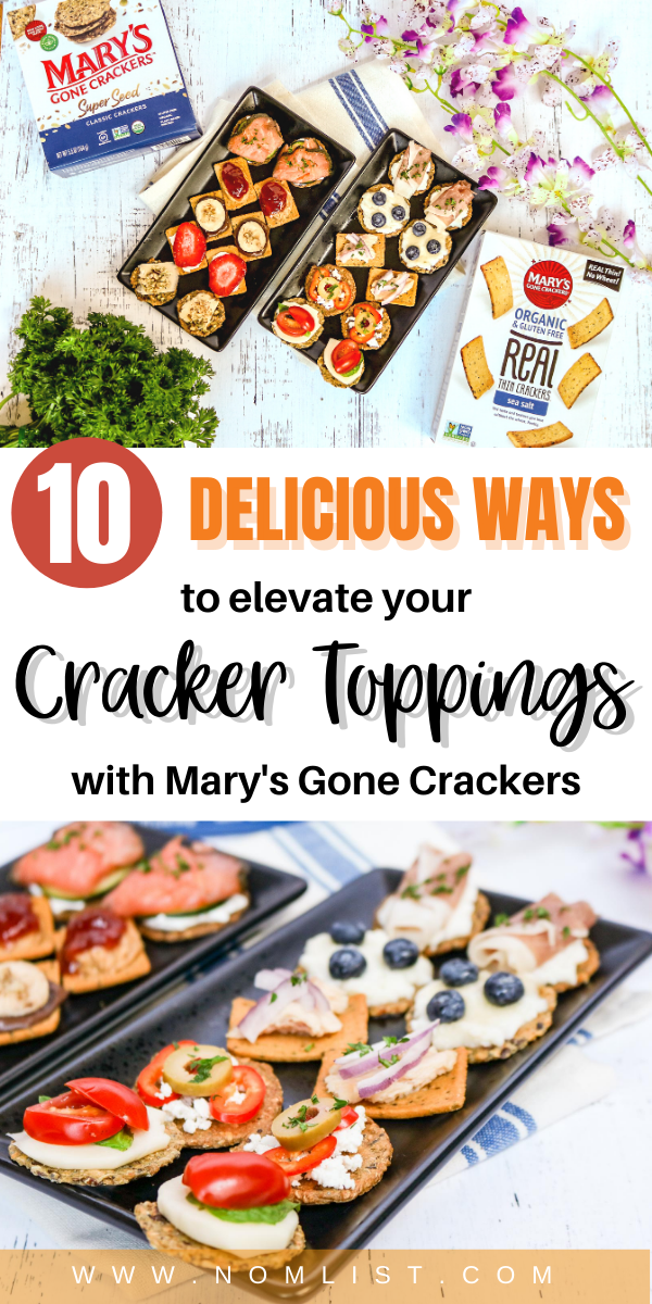 Snackaholics, it's time to switch up your cracker game. For years, I was one of those people who would buy those prepackaged lunch cracker snacks that just weren't really inspiring for my health or my belly. Through many trials and errors, I've learned to elevate my cracker toppings that my friends and family love! What's the secret? It's all in the cracker. #cracker #appetizers #snacks #recipes #lunchideas #food