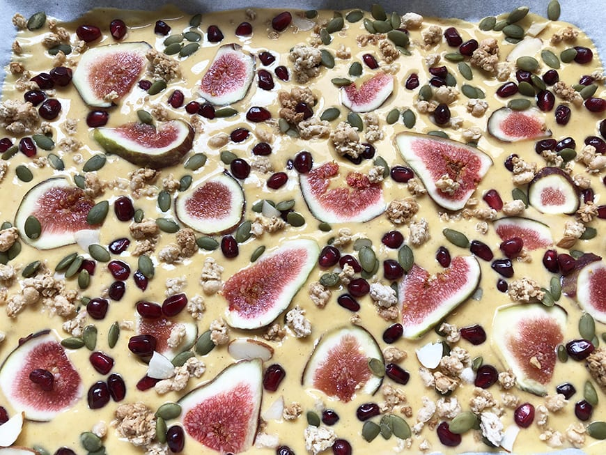 Frozen Pumpkin Spice Yogurt Bark - Figs Pomegranate