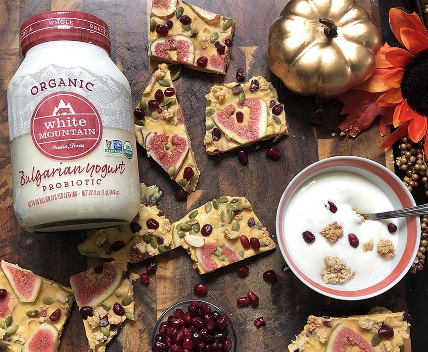 Frozen Pumpkin Spice Yogurt Bark White Mountain Foods