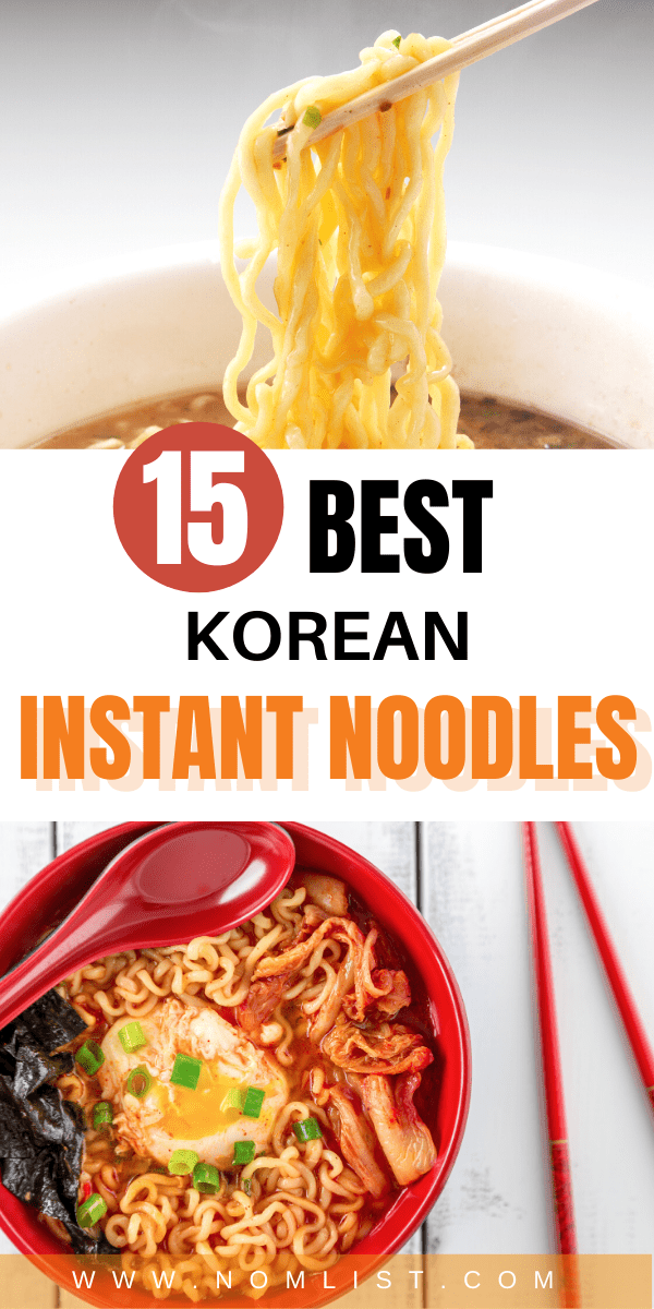 Korean ramen is one of the best snacks to eat. If you're a fan of instant noodles, you have to try these best 15 Korean instant noodles. #koreanfood #koreannoodles #noodles #instantnoodles