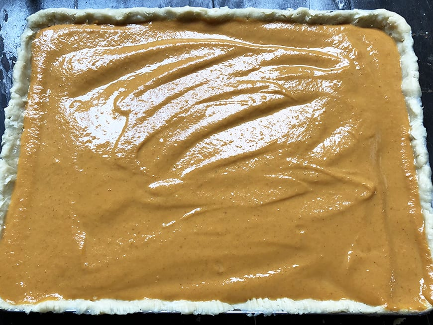 Pumpkin Slab Pie -